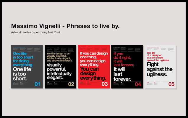 Massimo Vignelli - Artwork by Anthony Neil Dart